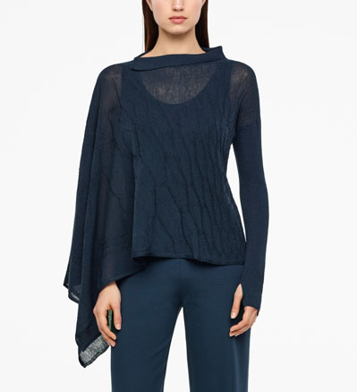 Sarah Pacini PONCHO-STYLE SWEATER Front