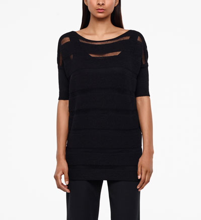 Sarah Pacini LONG MERINO SWEATER Front