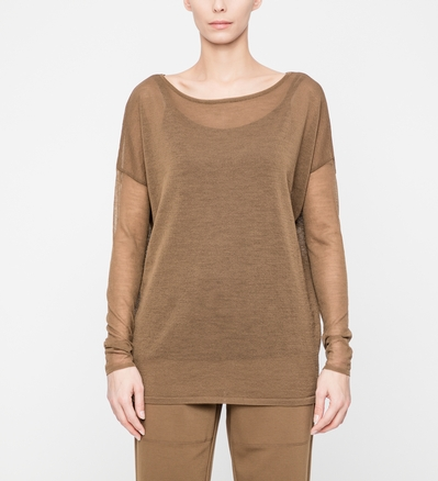Sarah Pacini VEIL SWEATER - FULL SLEEVES Front