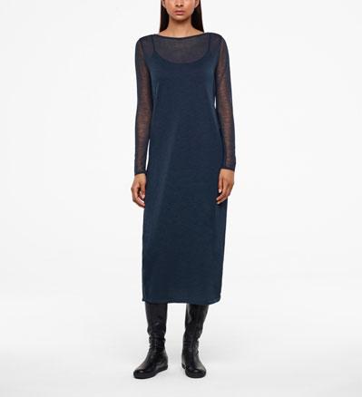 Sarah Pacini VEIL DRESS - FULL SLEEVES Front