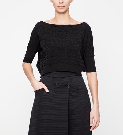 Sarah Pacini Kurzer Pullover - Geometrisch Vorne
