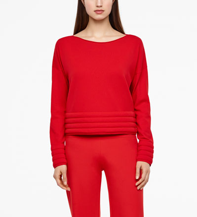 Sarah Pacini PADDED SWEATER - FULL SLEEVES Front
