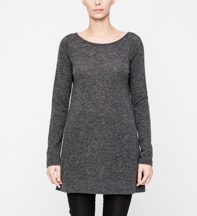 Sarah Pacini LANGER SWEATER IN A-LINIE Vorne