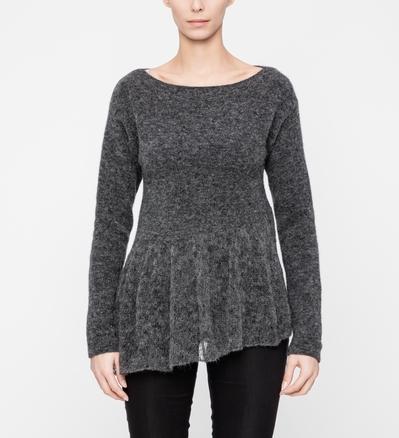 Sarah Pacini Chiné sweater - flared hem Front