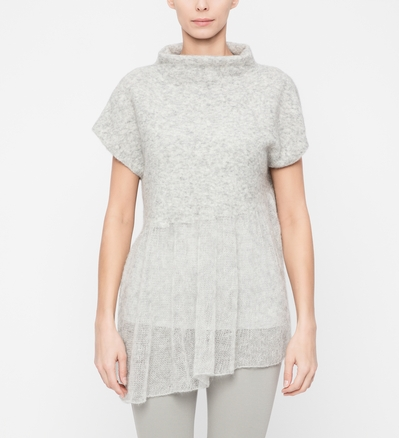 Sarah Pacini Chiné sweater - funnel collar Front