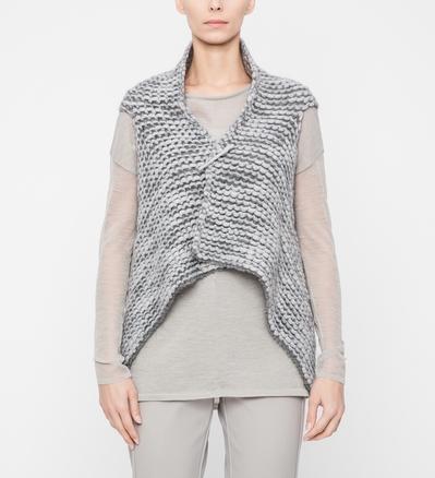 Sarah Pacini Chiné cardigan - gestructureerde snit Voorzijde