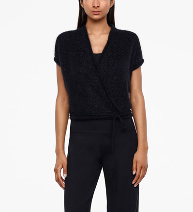 Sarah Pacini MOHAIR-MERINO WRAP-TOP - BRILLIANT KNITTING Front