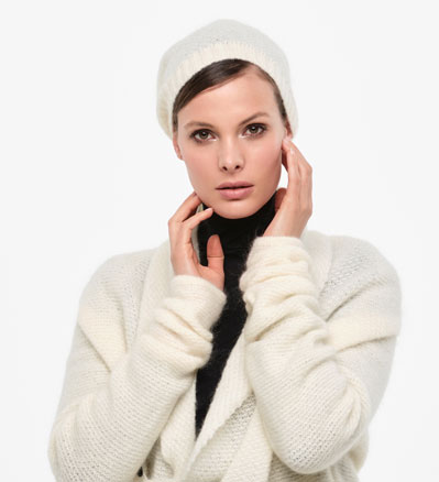 Sarah Pacini MOHAIR-MERINO CAP - BRILLIANT KNITTING Front