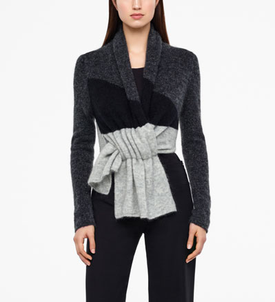 Sarah Pacini COLOR-BLOCK CARDIGAN - FULL SLEEVES Front