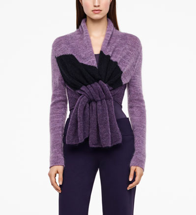 Sarah Pacini CARDIGAN - MOTIF COLOR BLOCK De face