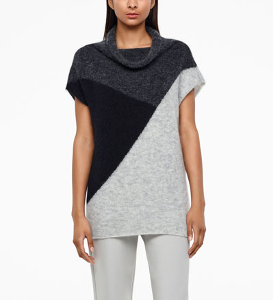 Sarah Pacini COLOR-BLOCK SWEATER - SLEEVELESS Front