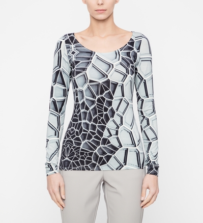 Sarah Pacini Top Zoé - mosaique De face