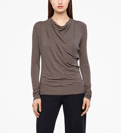 Sarah Pacini TOP - GATHERED DETAILS Front
