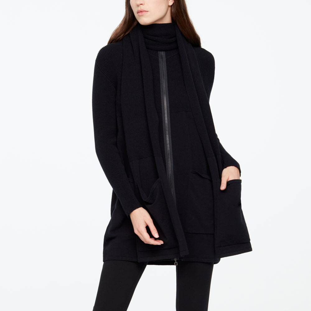 Sarah Pacini SCARF - PATCH POCKETS Front