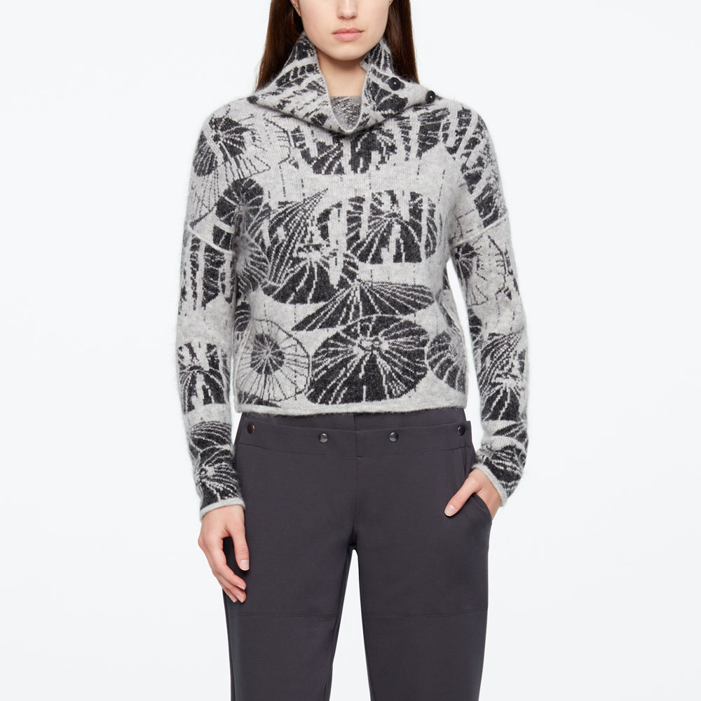 Sarah Pacini SHORT SWEATER - UMBRELLAS Front