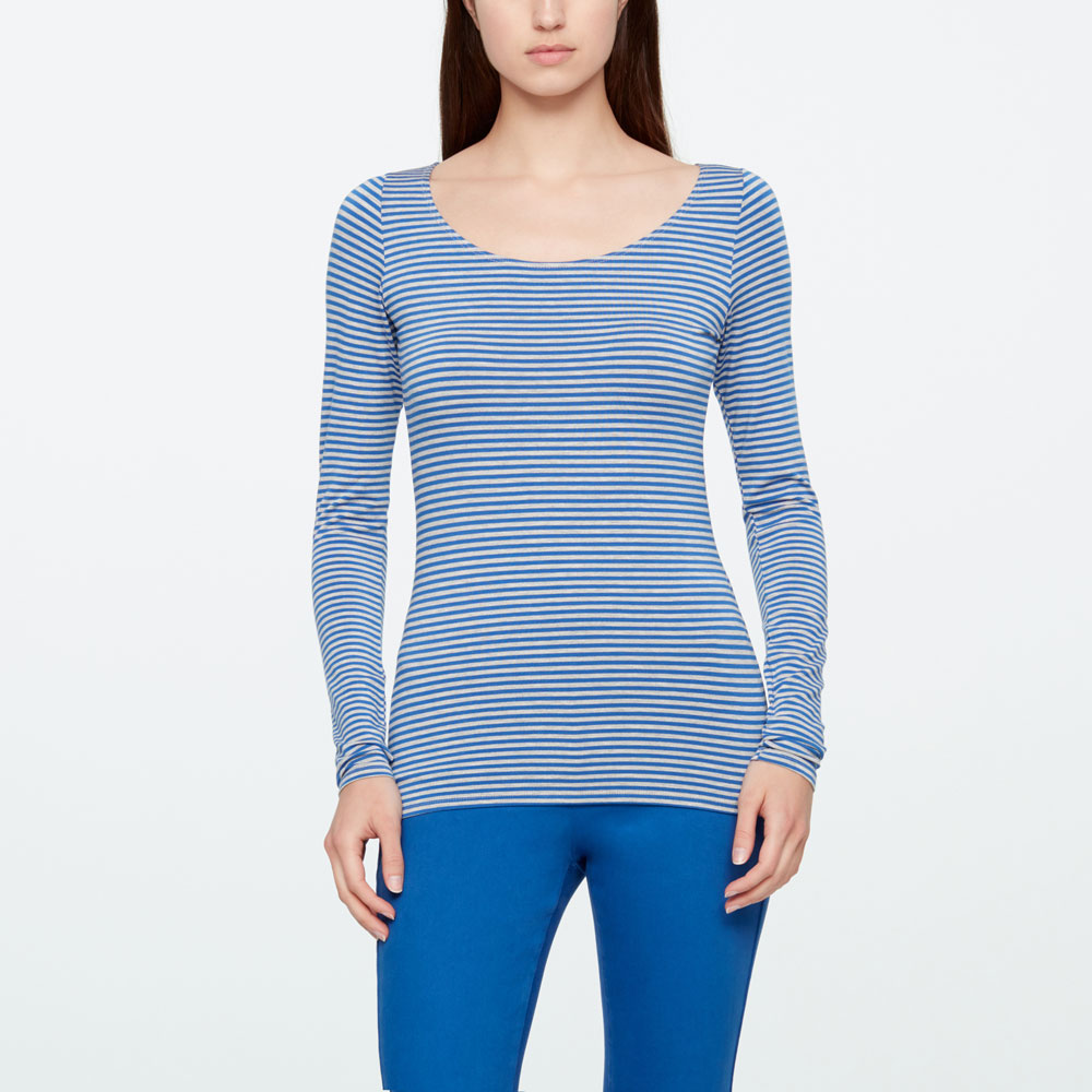 Sarah Pacini TOP - STRIPES Front