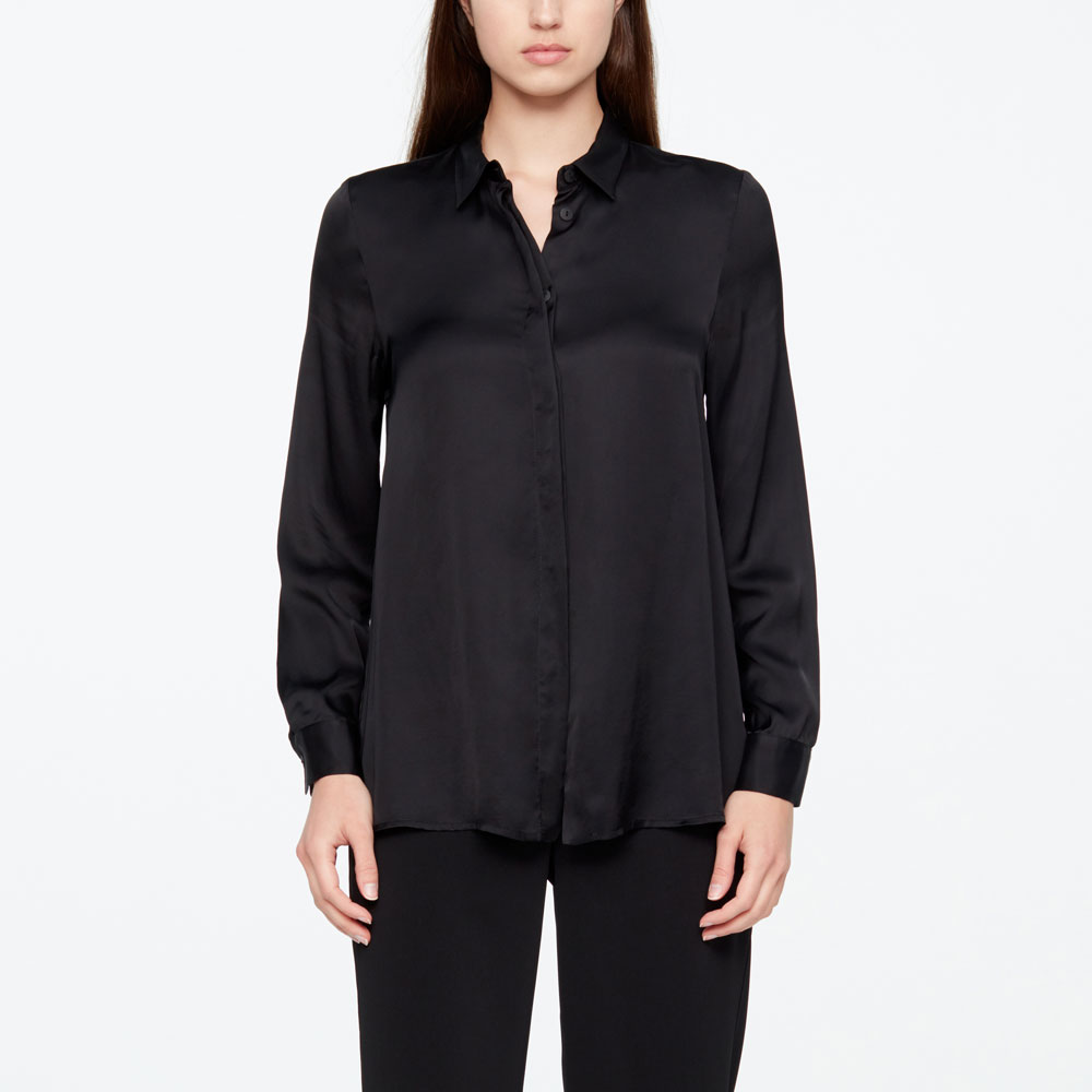 Sarah Pacini LONG SHIRT - SATIN FEEL Front