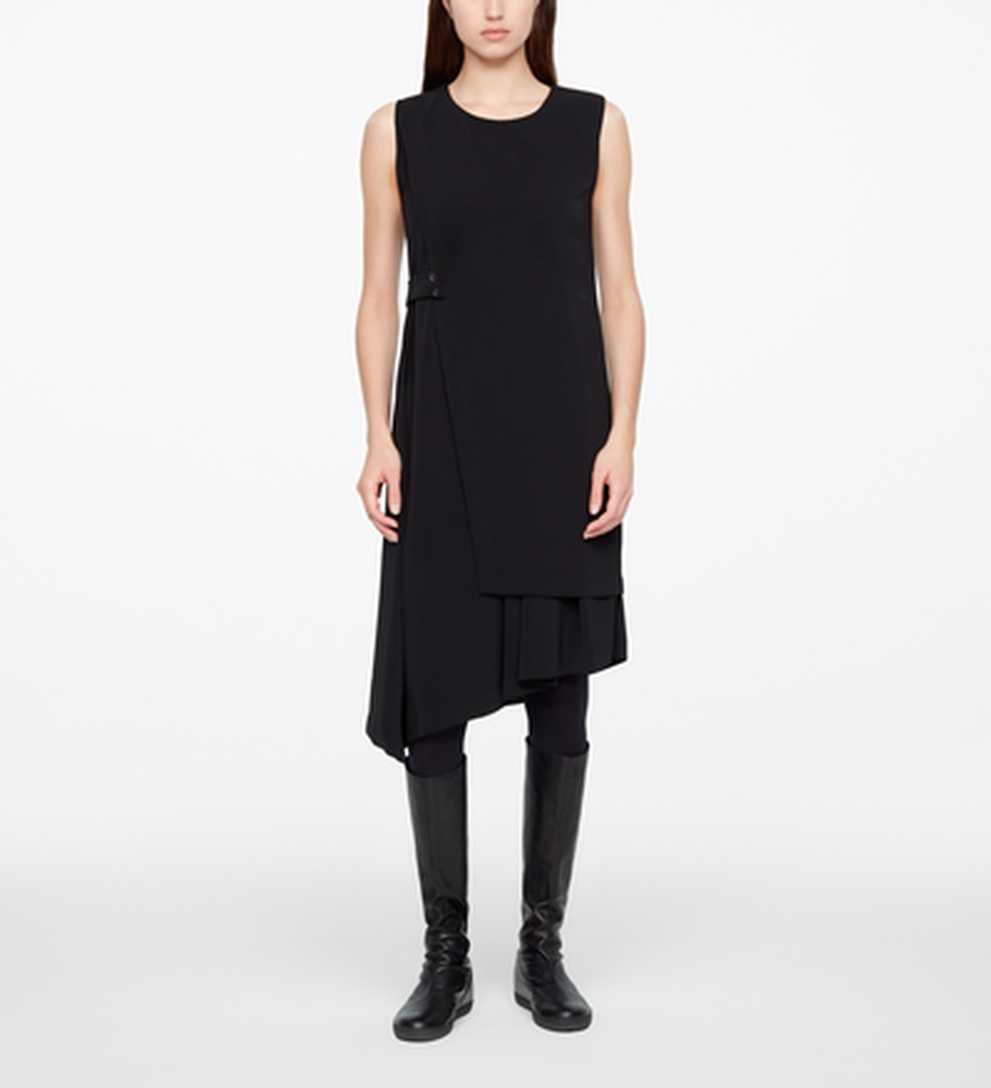 Sarah Pacini PANELED DRESS - CREPE Front