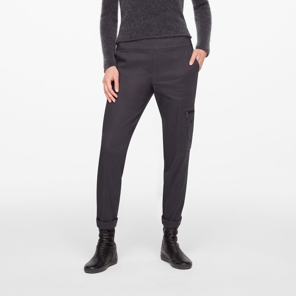 Sarah Pacini PANTALON LIN STRETCH - CERCLES De face