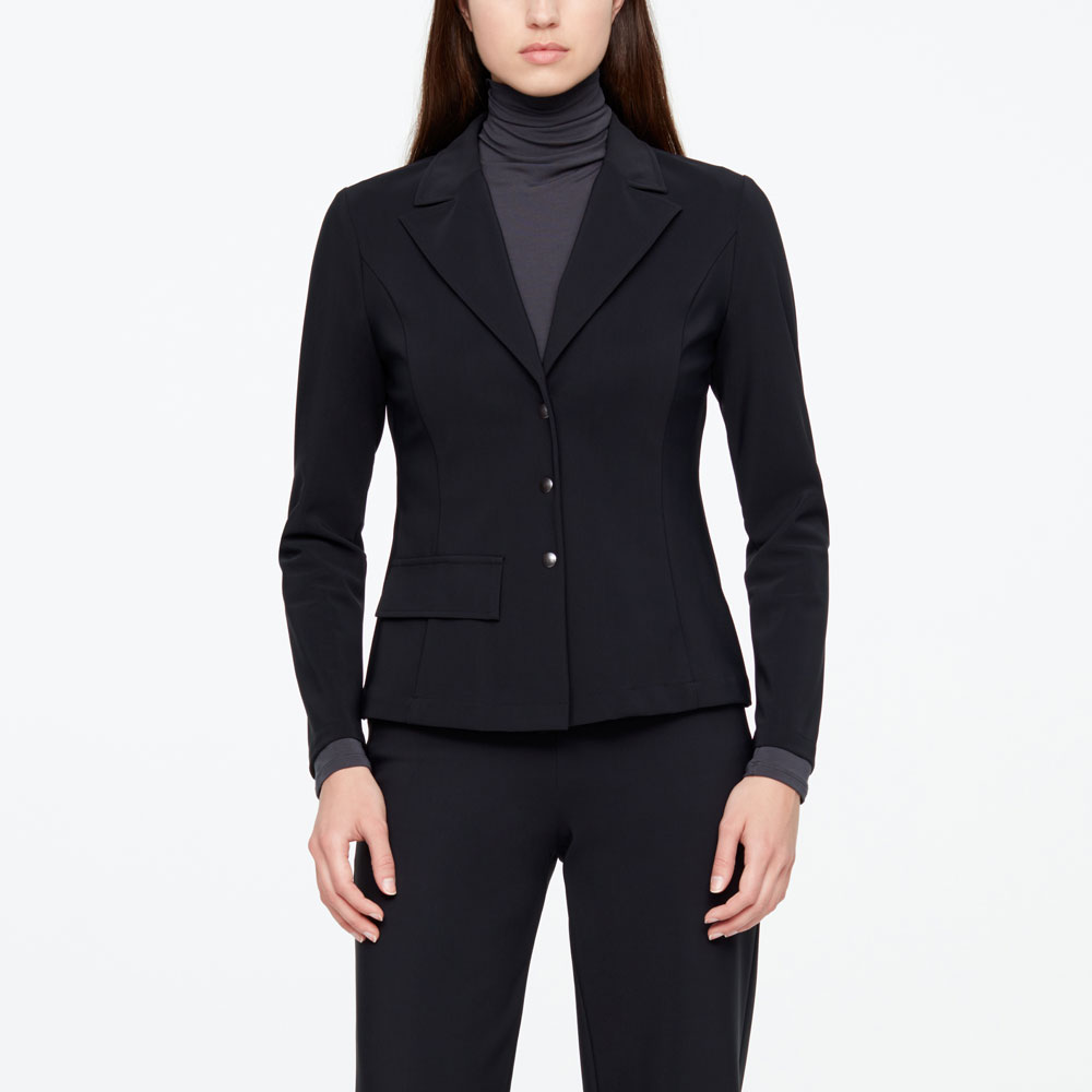Sarah Pacini BUTTON JACKET - TECHNO FABRIC Front