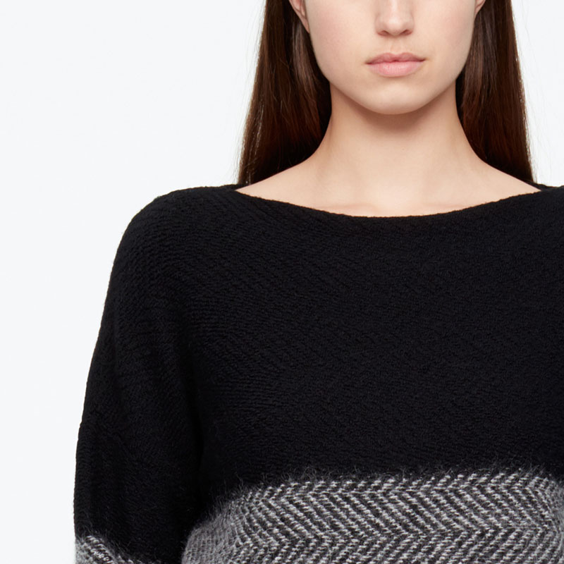 Sarah Pacini PULL LONG - CHEVRONS De face