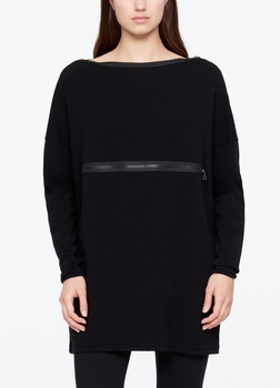 Sarah Pacini PULL LONG - FERMOIRS ZIP De face