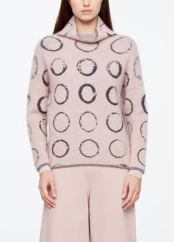 Sarah Pacini LONG SWEATER - CIRCLE MOTIF Front