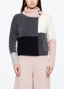 Sarah Pacini CARDIGAN COURT - COLOR BLOCK De face