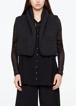 Sarah Pacini COTTON CARDIGAN - SLEEVELESS Front