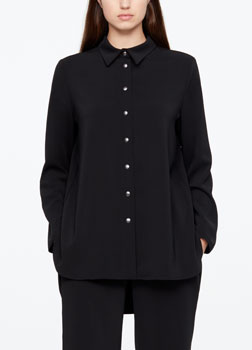Sarah Pacini SHIRT - BACK PLEAT Front