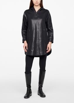 Sarah Pacini DRESS - LEATHER SHEEN Front