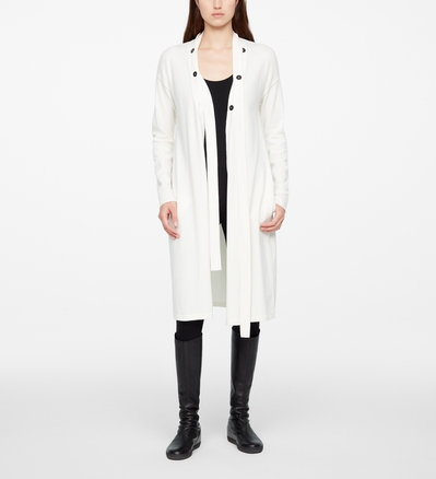 Sarah Pacini LONG CARDIGAN - CEINTURE DÉTACHABLE De face