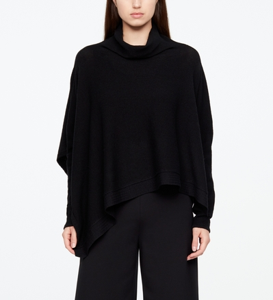 Sarah Pacini FINE WOOL PONCHO Front