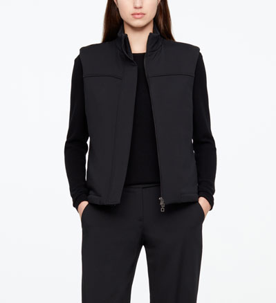 Sarah Pacini WOOL COAT - SLEEVELESS Front