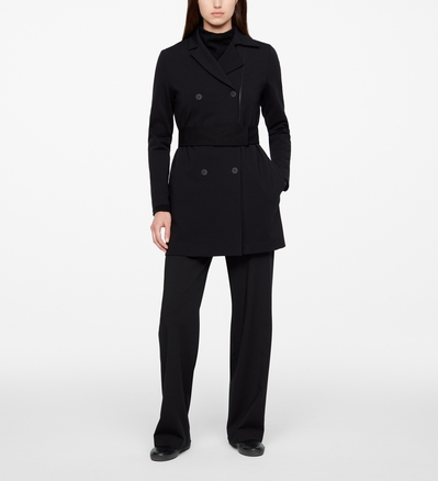 Sarah Pacini TRENCH COAT - JERSEY Front