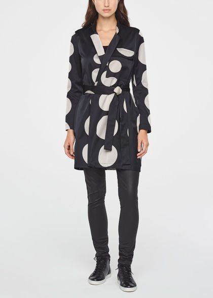 Sarah Pacini LONG POLKA DOT JACKET