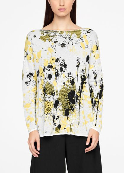Sarah Pacini MURAL SWEATER - FULL SLEEVES