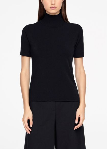 Sarah Pacini SWEATER - RIBBED MOCK NECK