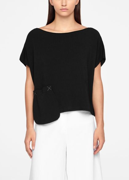 Sarah Pacini SWEATER - CAP SLEEVES