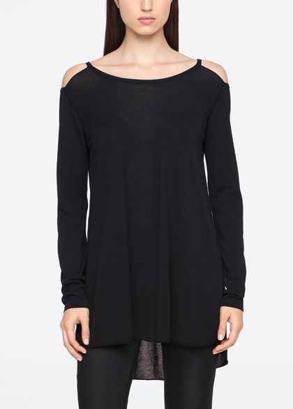 Sarah Pacini LONG SWEATER - MAKO COTTON