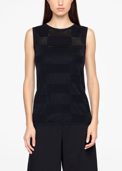 Sarah Pacini LINEN SWEATER - SLEEVELESS