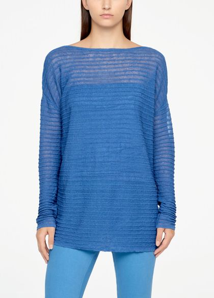 Sarah Pacini LONG LINEN SWEATER - RELIEF