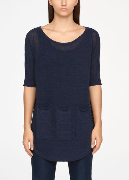 Sarah Pacini SWEATER - PATCH POCKETS