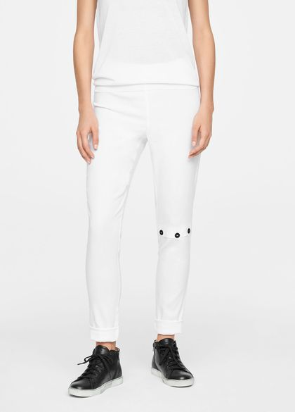 Sarah Pacini LINEN LEGGINGS - KNEE SLIT