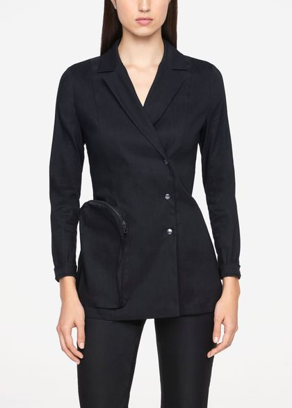 Sarah Pacini STRETCH LINEN JACKET