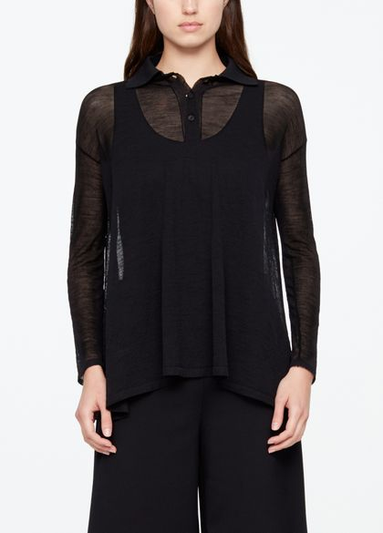Sarah Pacini LIGHT MERINO WOOL SHIRT
