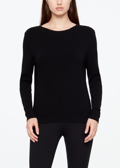 Sarah Pacini LIGHT SWEATER - FINE RIBBING