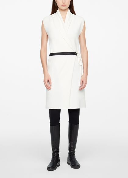 Sarah Pacini SLEEVELESS CARDIGAN - BELT