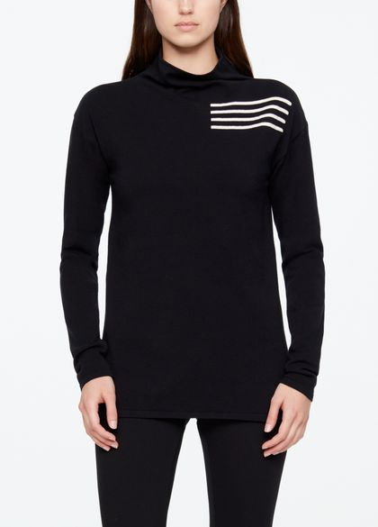 Sarah Pacini FUNNEL NECK SWEATER - YI JING
