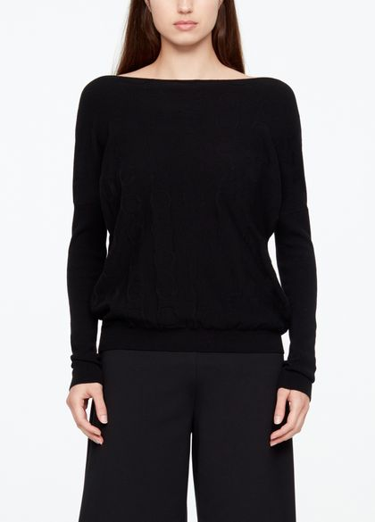 Sarah Pacini FULL SLEEVE SWEATER - CIRCLES